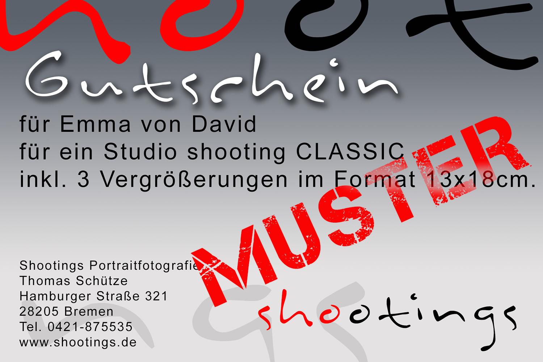 Gutschein Fotoshooting Bremen