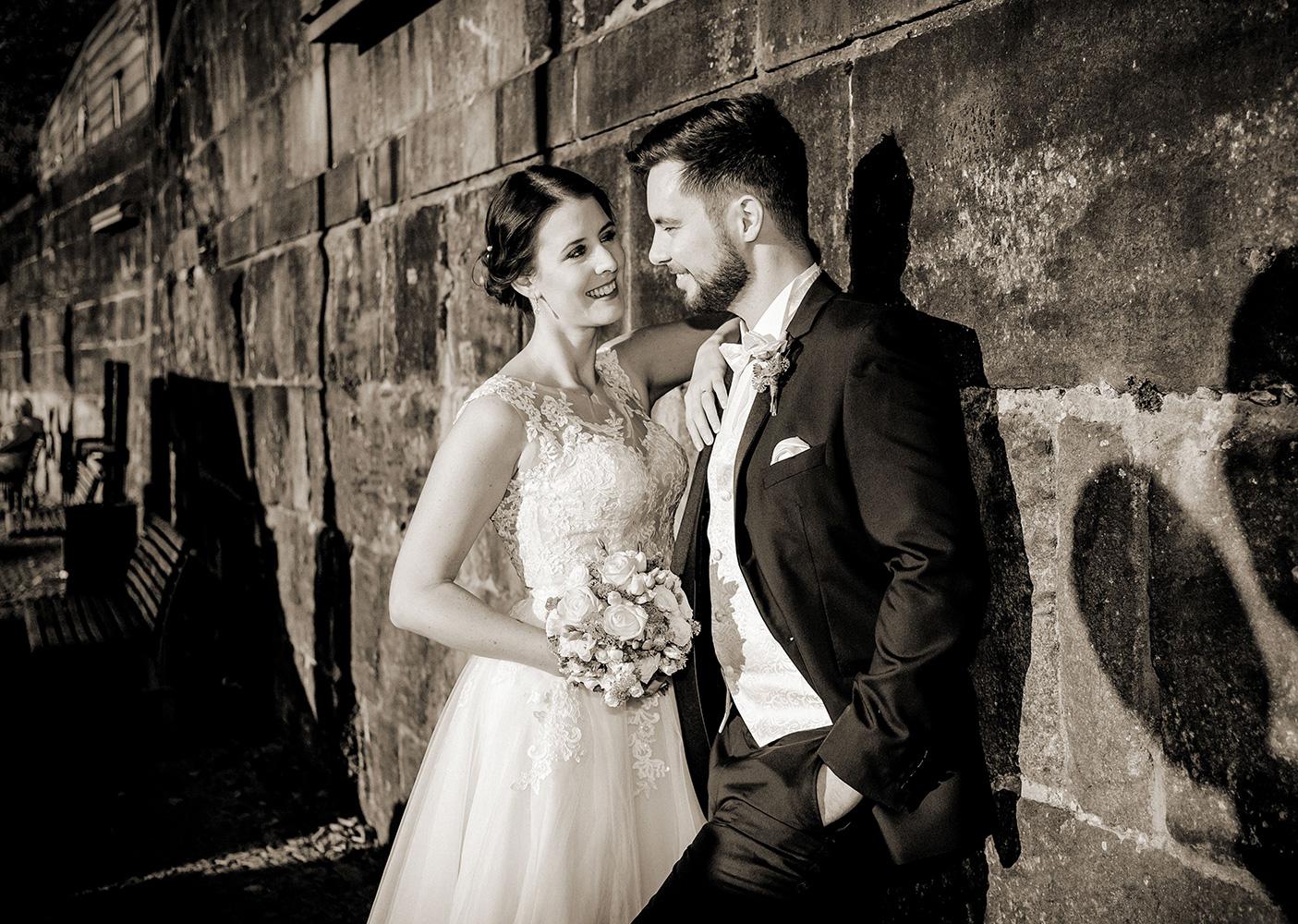 Hochzeit Bremen Schlachte Sepia